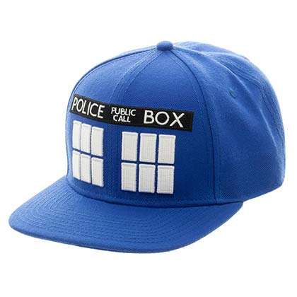Doctor Who TARDIS Blue Snapback Hat