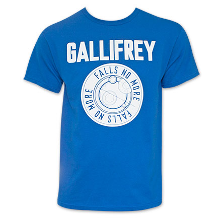 Doctor Who Falls No More Gallifrey Blue T-Shirt