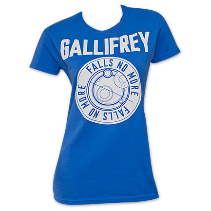 Doctor Who Falls No More Gallifrey Blue Women's T-Shirt