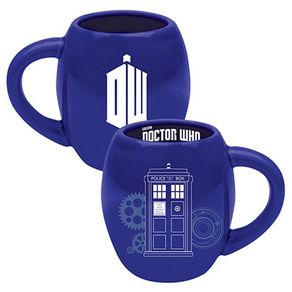 Doctor Who Blue Oval Tardis Coffee Mug