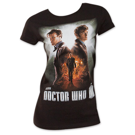 Doctor Who Women's Day Of The Doctor Black T-Shirt
