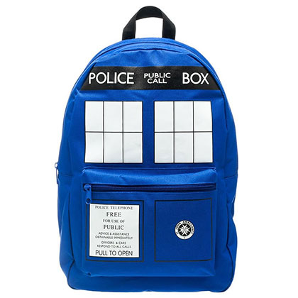 Doctor Who Blue Police Box Tardis Backpack