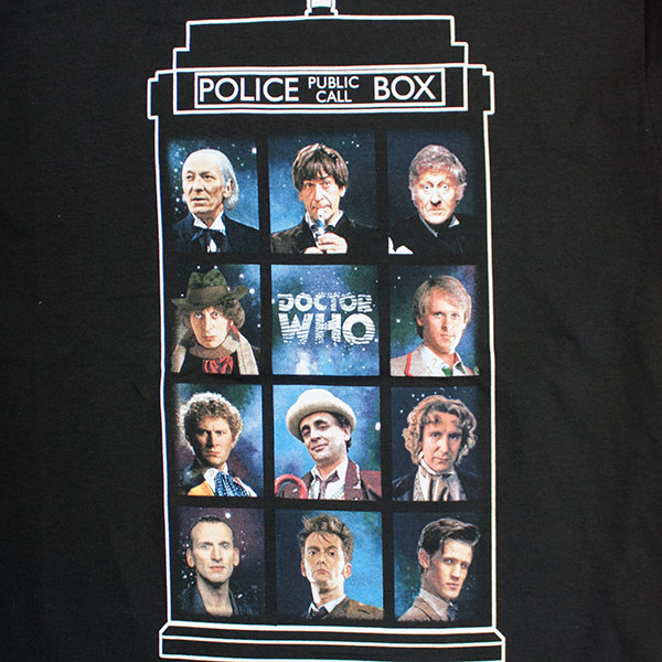 Doctor Who Police Call Box Black T-Shirt