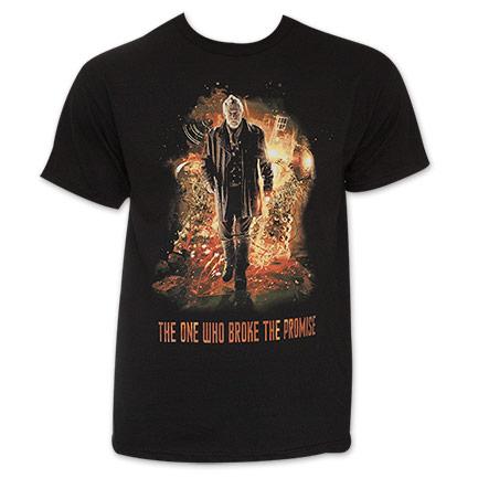Men's Black Dr. Who Break The Promise Tee Shirt
