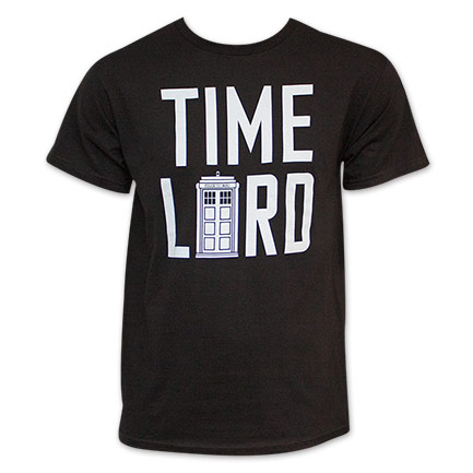 Doctor Who Time Lord Black Tee Shirt