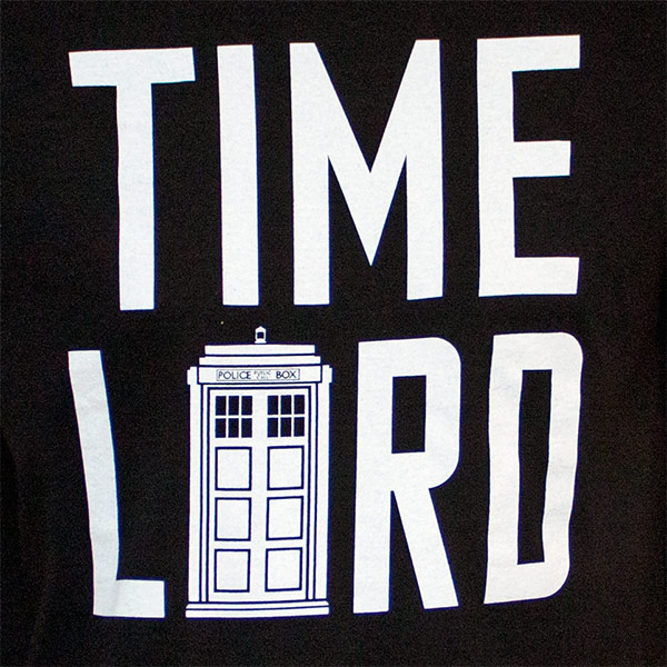 Men's Black Dr. Who Time Lord T-Shirt