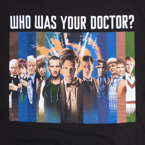 Who Was Your Doctor Men's Doctor Who T-Shirt