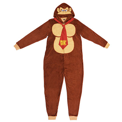 Donkey Kong Pajama Union Suit Men's Costume