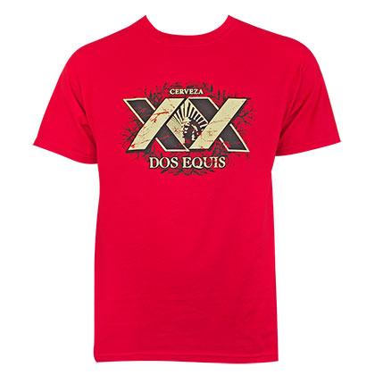 Dos Equis Red XX Logo Tee Shirt