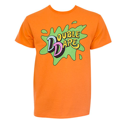 Nickelodeon Men's Orange Double Dare T-Shirt