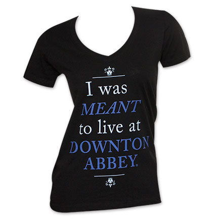 Downton Abbey Women's Meant To Live Tee Shirt