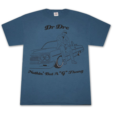 Dr. Dre Nuthin But A G Thang Blue Graphic T Shirt