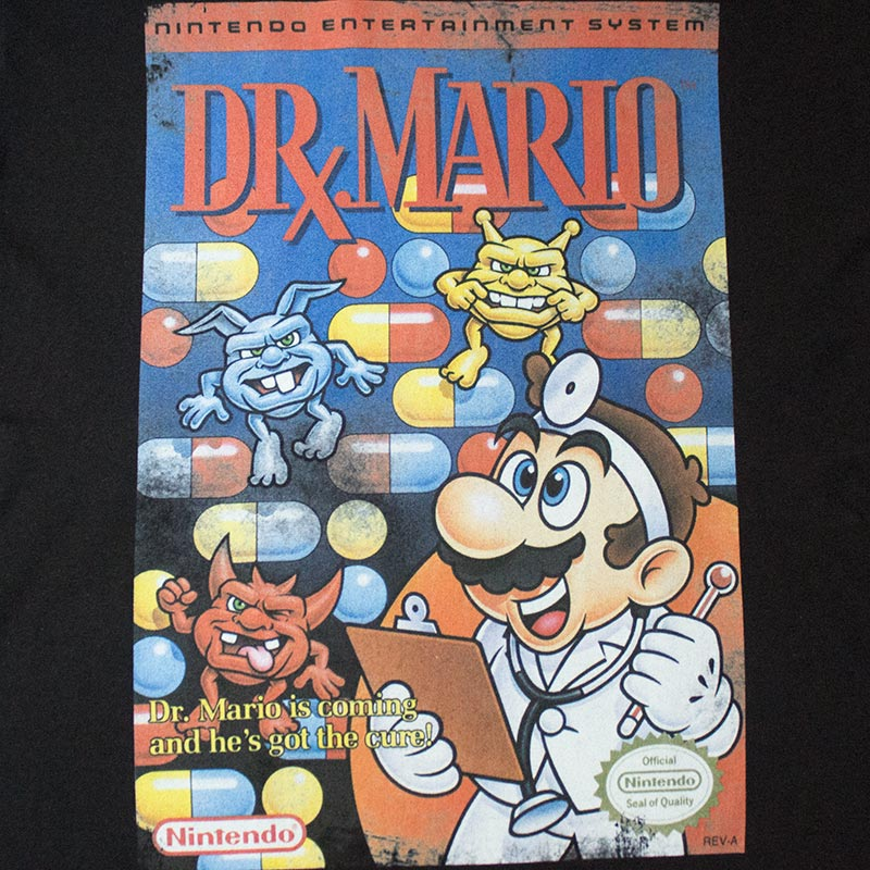 Nintendo Men's Black Original NES Dr. Mario Tee Shirt