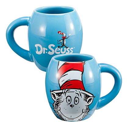 Dr. Seuss Cat In The Hat Oval 18oz Stoneware Coffee Mug