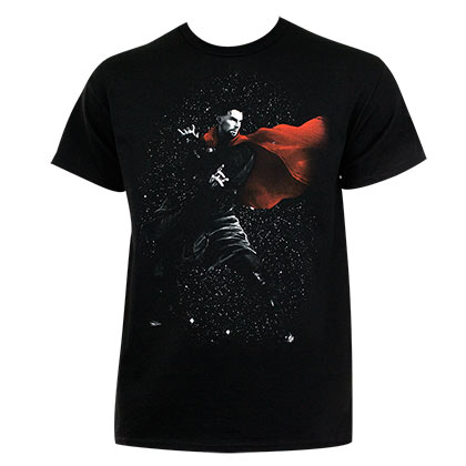 Dr. Strange Men's Black Cosmic T-Shirt
