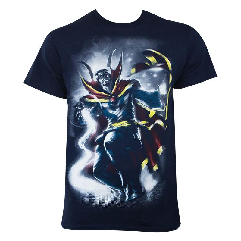 Dr. Strange Men's Navy Blue Doc Mythos T-Shirt