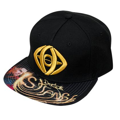 Doctor Strange Sublimated Bill Black Snapback Hat