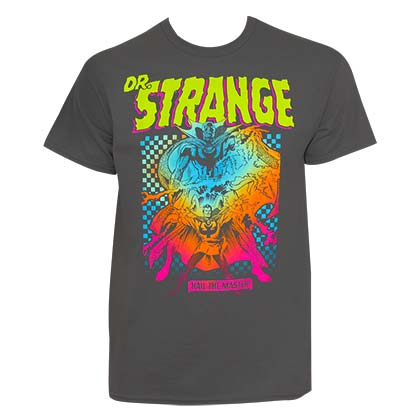 Dr. Strange Men's Grey Hail The Master T-Shirt