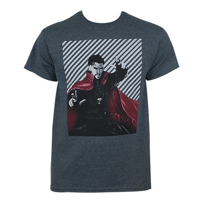Dr. Strange Men's Blue Geometric T-Shirt