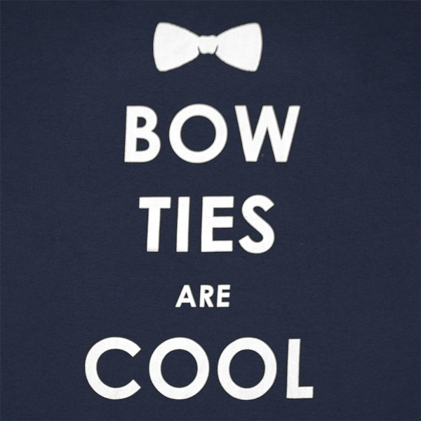 doctor who bow ties are cool navy graphic tshirt