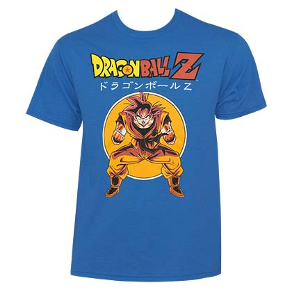 Dragon Ball Z Men's Blue Goku T-Shirt
