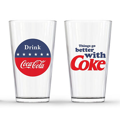 Coca Cola 2 Piece Things Go Better With A Coke Pint Glass Set