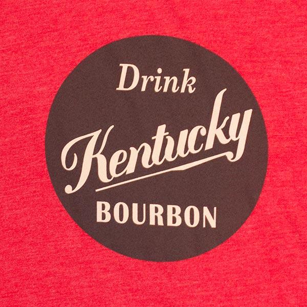 Kentucky Bourbon Men's Red Drink Bourbon T-Shirt