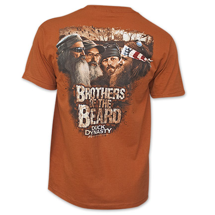 Duck Dynasty Brothers of the Beard Graphic T Shirt - Orange
