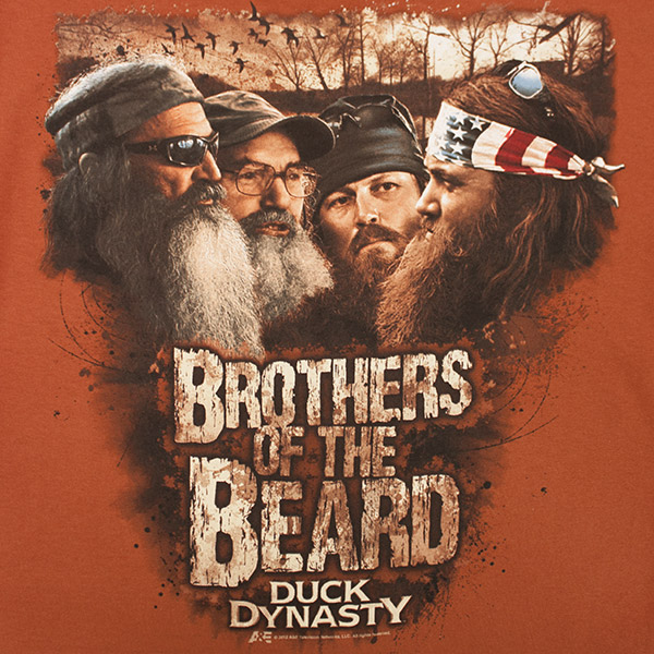 Duck dynasty brothers of the beard graphic t shirt for House of dynasty order online