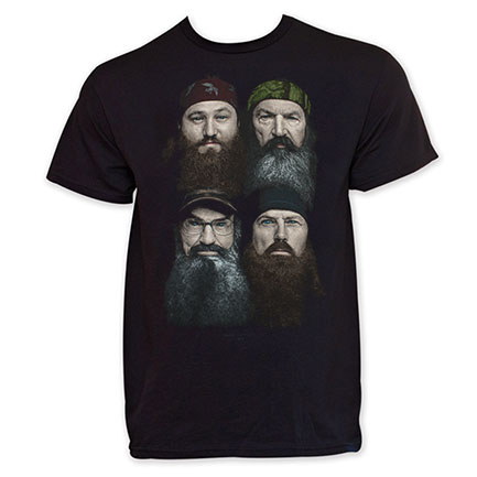 Duck Dynasty Beard Faces TShirt - Black