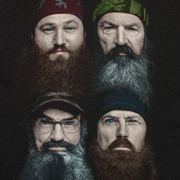 Duck Dynasty Beard Faces Tee Shirt - Black
