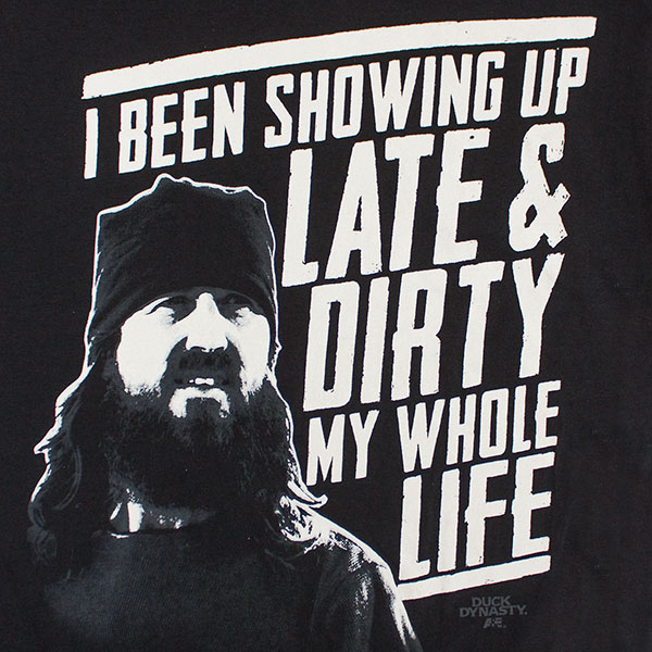 Duck Dynasty Showing Up Late & Dirty Tee - Black