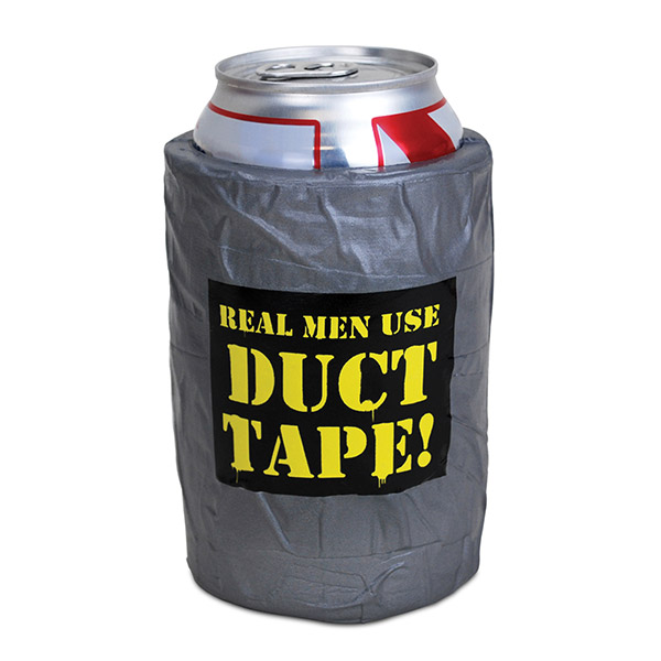 Funny Can Coolers ~ Duct tape funny beer can cooler