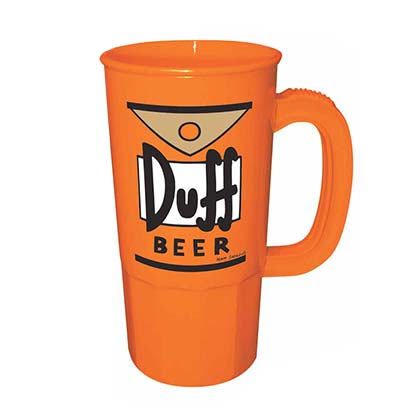 The Simpsons Orange Duff Travel Mug