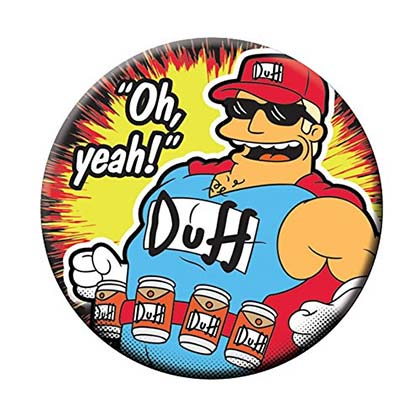 Simpsons Duffman Oh Yeah Bottle Opener Magnet