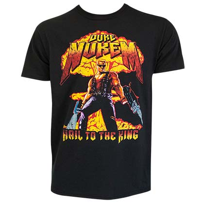 Duke Nukem Hail To The King Black Tee Shirt