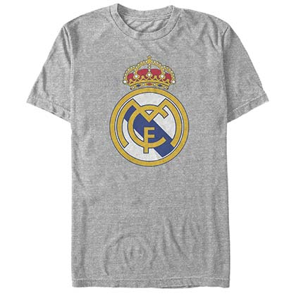 Real Madrid Core Crest Soccer Gray T-Shirt