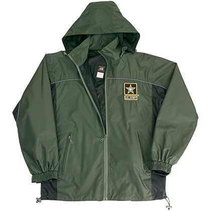 US Army Windbreaker Mens Green Jacket