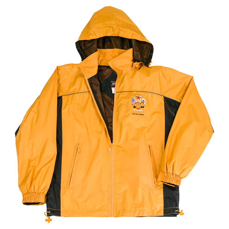 Army Windbreaker Mens Yellow Jacket