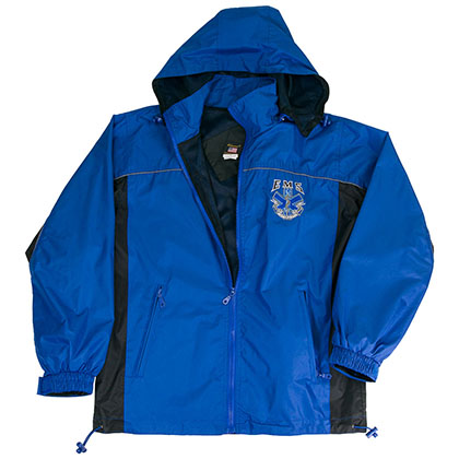 EMS Emergency Services Windbreaker Mens Blue Jacket