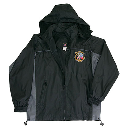 Patriotic Home Of The Free Windbreaker Mens Black Jacket