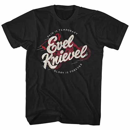 Evel Knievel Forever Mens Black T-Shirt