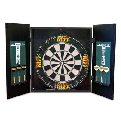 Free Shipping Kiss Dart Board Cabinet Set