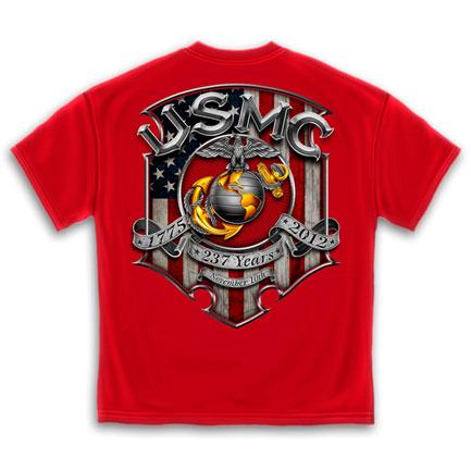 USMC Marines Birthday T-Shirt - Red