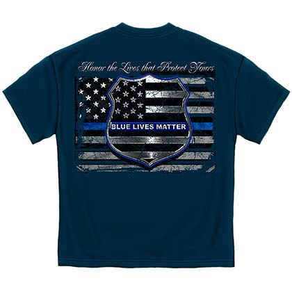 Police Cops Blue Lives Matter T-Shirt