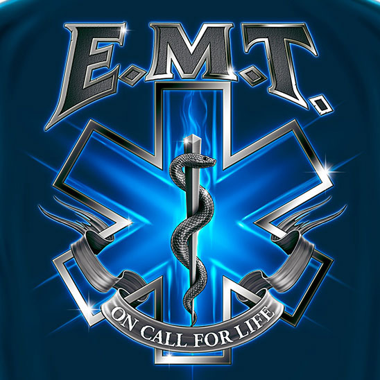 EMT On Call For Life Tee Blue