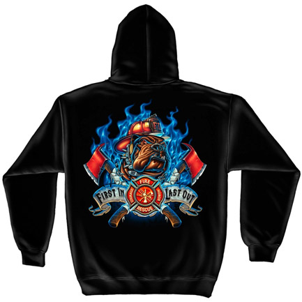 USA Fire Department Black Graphic Hoodie Sweatshirt FREE SHIPPING