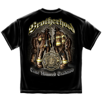 Firefighter Time Honored Tradition T-Shirt - Black