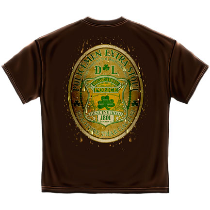 Policeman Extra Stout T-Shirt - Brown