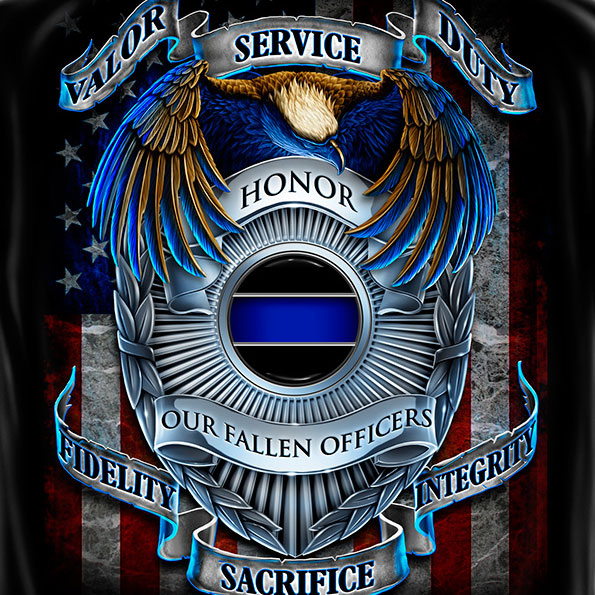 Honor Service Duty Tee Black